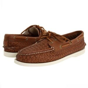 Sperry Top-Sider | Woven Leather Boat Shoes